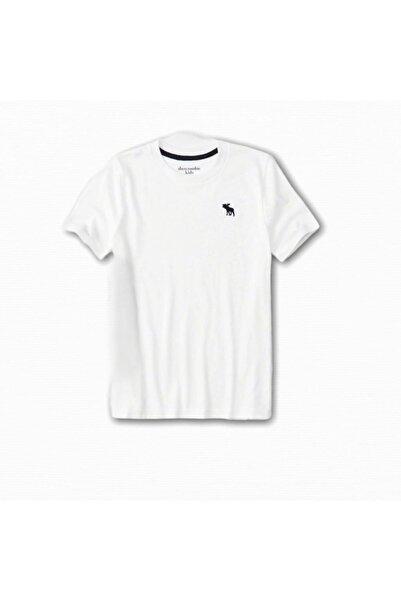 Abercrombie Erkek Çocuk Beyaz Kısa Kollu T-Shirt