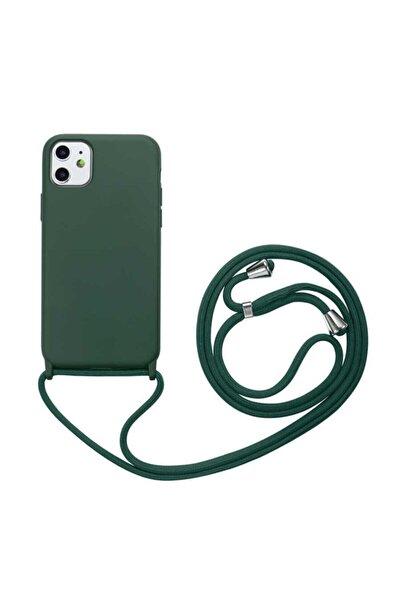 zore Iphone 11 Kılıf Silikon Ipli Boyun Askılı Pürüzsüz Ropi