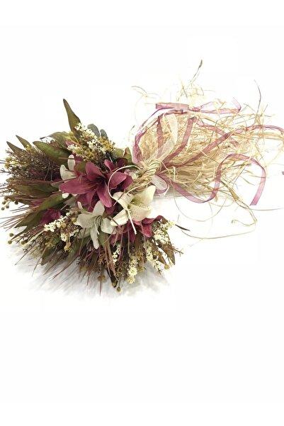 Evsay Gelin Buketi Şakayık Gelin Eli Çiçeği Düğün Söz Ve Nişan Zambak Buketi