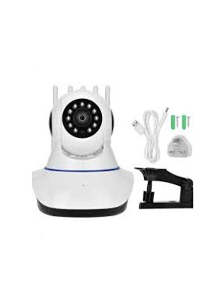 Kakusan 360° Wifi Ip Güvenlik Kamera 5 Antenli Gece Görüşlü Sensörlü Harekete Duyarlı Sesli