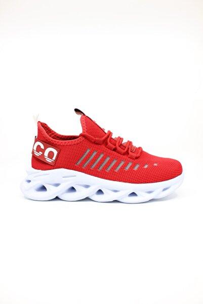 Marco Jamper Kadın Kırmızı Beyaz Günlük Spor Ayakkabı
