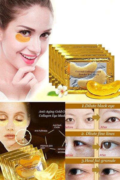QNİAY Gözaltı Maskesi Kolajen Gold Göz Altı Maskesi Altın Yüz Cilt Bakımı 10 Paket - (2 Li Adet)