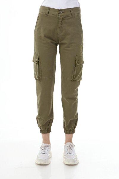 Rodi Jeans Kadın Haki Jogger Kargo Cep Gabardin Pantolon Ds21kb016066