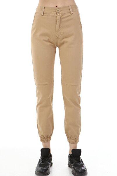 Rodi Jeans Kadın Camel Jogger Basic Gabardin Pantolon Ds21kb015058