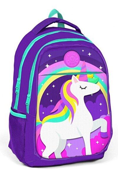 Yaygan Çanta Kız Çocuk Mor Unicorn Okul Çantası