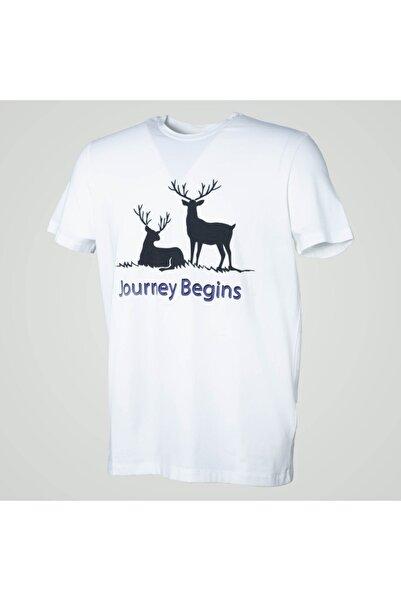 Exuma Erkek Beyaz Baskılı T-Shirt