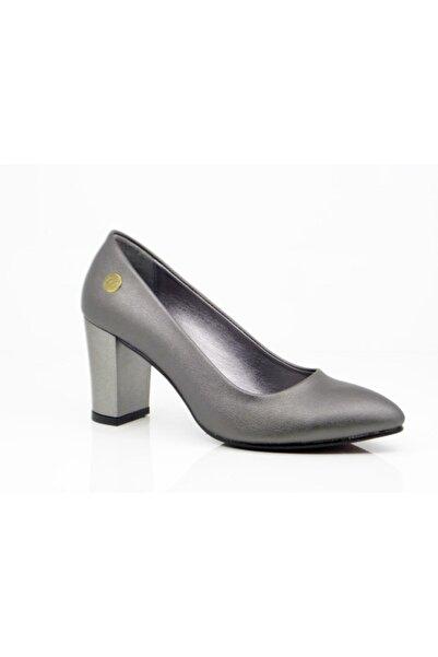 Mammamia Kadın Platin Hakiki Deri Ayakkabı 4245