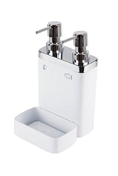 Prima Nova Beyaz 2'li Viva Süngerli Sıvı Sabunluk
