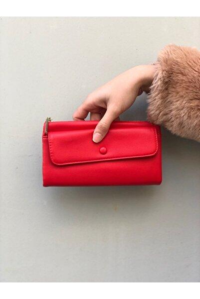 Lebina Kırmızı Bayan Cüzdanı