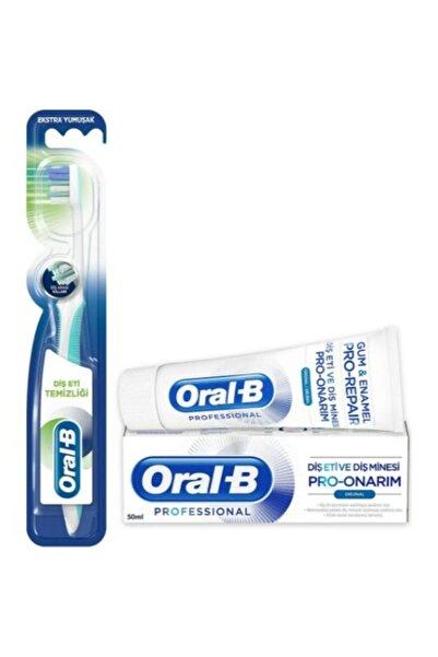 Oral-B Professıonal 50 ml Diş Macunu Ve Oral B Diş Fırçası Lısterıne 500 ml