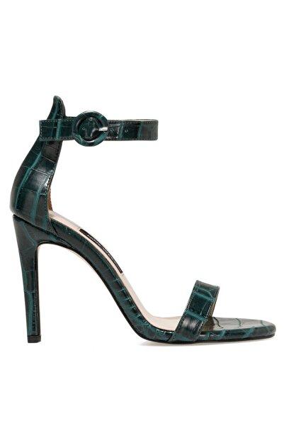 Nine West Lındıt Yeşil Kadın Topuklu Sandalet