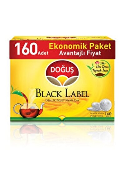 Black Label Demlik Poşet Siyah Çay Avantajlı Paket 160 'lı