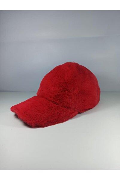 Y-London 13590 Kırmızı Peluş Kep