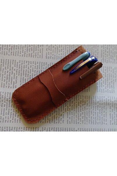 Mahfuz Gerçek Deri Tamamen El Emeği Özel Kalemleriniz Için Kalemlik Kalemkutu