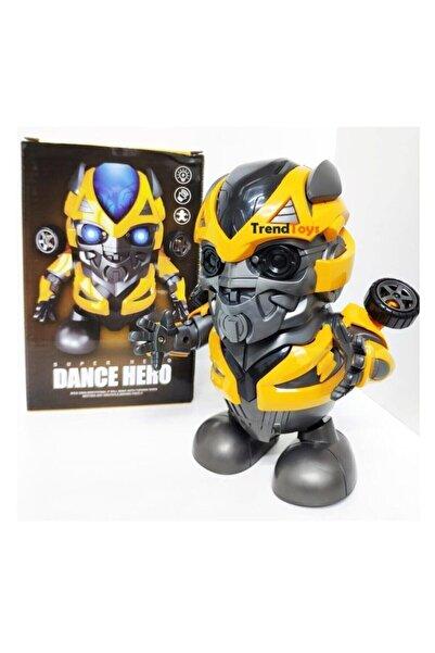 ADEL OYUNCAK Işıklı ve Müzikli Dans Eden Dönen Dansçı Oyuncak Robot Bumblebee