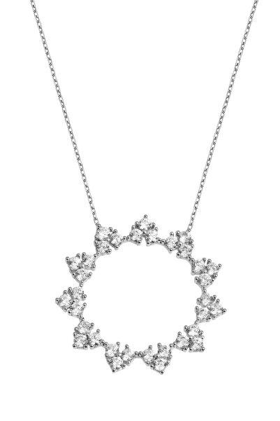 Coquet Accessories Rodyum Taşlı Çember Gümüş Kolye 19G9U24N594