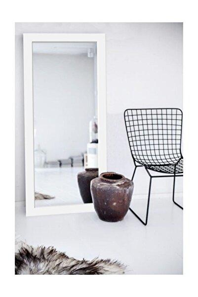 Hüma's Beyaz Dekoratif Retro Boy Aynası 160 x 48 cm