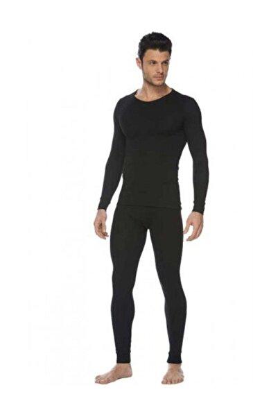 Tutku Erkek Siyah Termal Takım Alt Üst 0125-0126