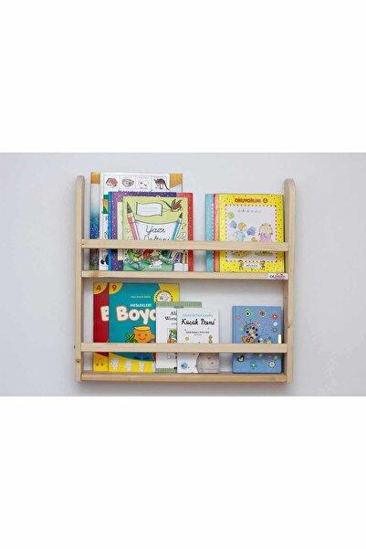 Ceebebek Ahşap Bebek Çocuk Odası Duvar Rafı Kitaplık 2 Katlı Ceen2kt606099