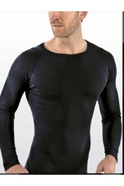 Tutku Erkek Siyah Üst Uzun Kol Termal Atlet