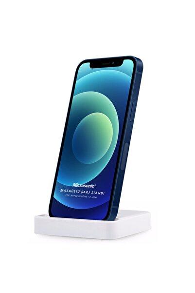 Microsonic Iphone 12 Mini Dock Masaüstü Şarj Cihazı Standı Beyaz