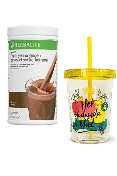 Herbalife Shake 550gr Çikolata Aromalı + Renkli Chiller 450ml