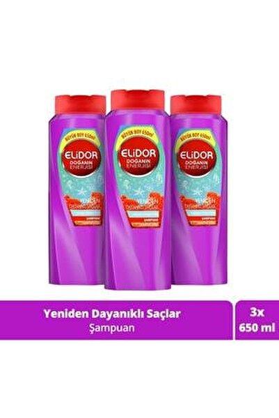 Doğanın Enerjisi Yeniden Dayanıklı Saçlar Kırmızı Yosun Özlü Saç Bakım Şampuanı 650 ml X3