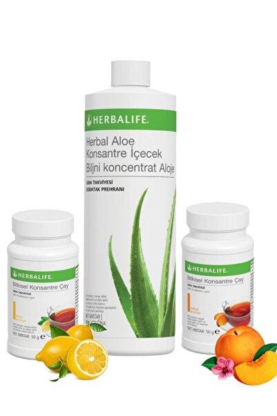 Herbalife Ödem Atıcı Seti Limon+şeftali 50gr Çay+ Aloe Vera Içeceek 473ml