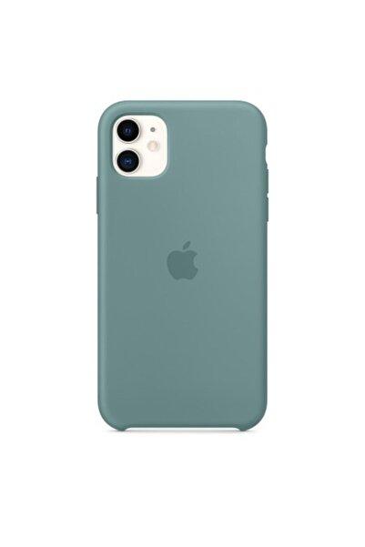 Enz Aksesuar Kaktüs Yeşil Apple Iphone 11 Lansman Kılıf - Içi Süet
