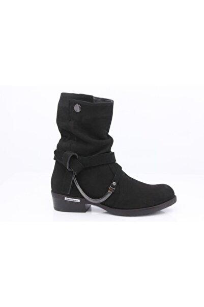 Mammamia Kadın Siyah Hakiki Deri  Fashion Western Çizmesi 4290