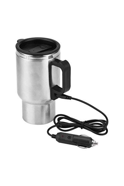 Oto Aksesuarcım Araç Içi Su Isıtıcı Çelik Oto Kettle-termos Mug Kupa Içi Metal 12v 500ml