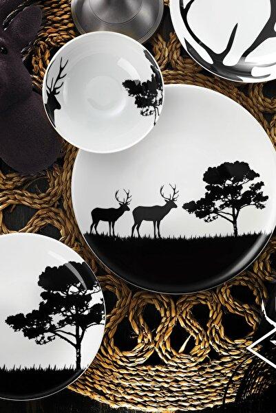 Kütahya Porselen Doğadakiler Serisi 24 Parça Yemek Seti