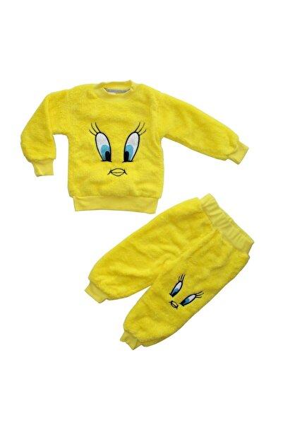 bebegen Çocuk Sarı Tweety Nakışlı Sarı Peluş 2'li Takım