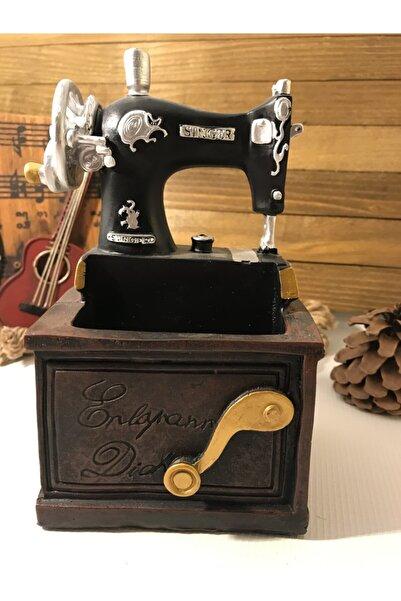 DAKİK TASARIM & HEDİYELİK Nostaljik Dikiş Makinası Dekoratif Biblo/ Kalemlik