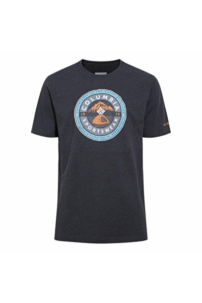 Columbia Erkek Gri Baskılı Kısa Kollu Spor T-Shirt