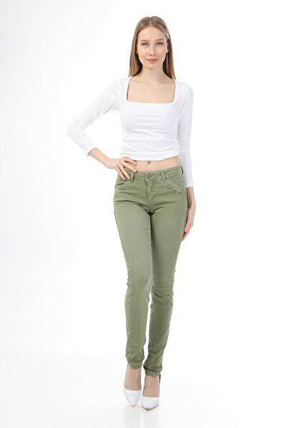 Rodi Jeans Kadin Parçalı Casual Pantolon