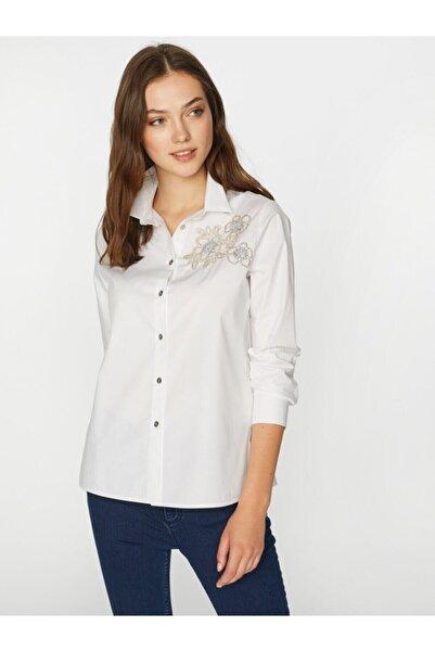 Faik Sönmez Kadın Beyaz Gömlek 39347 U39347