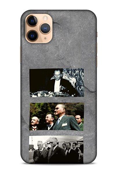 Lopard Iphone 11 Pro Uyumlu Gri Atatürklü  Koruyucu Silikon Kılıf