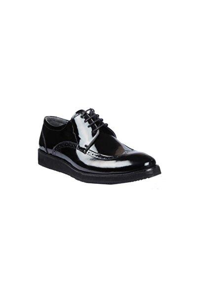 Elegante Erkek Siyah Ayakkabı 134-2 Vıvaro Vernıce
