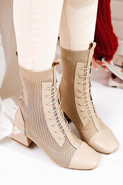 Limoya Bej Çorap Bot