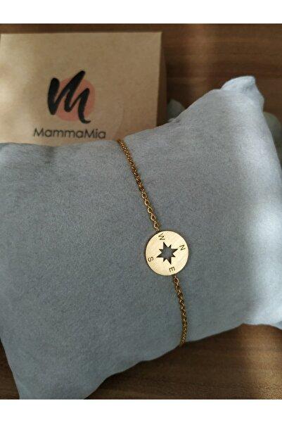 Mammamia Kadın Pusula Gold Bileklik