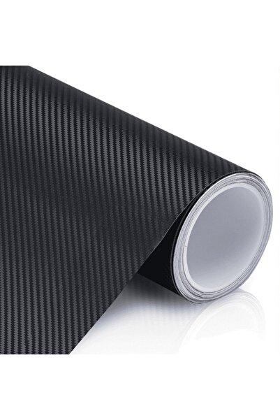 Otografik Siyah Karbon Kaplama Folyo - Hava Kanallı Süper Ürün 30cm X 152cm