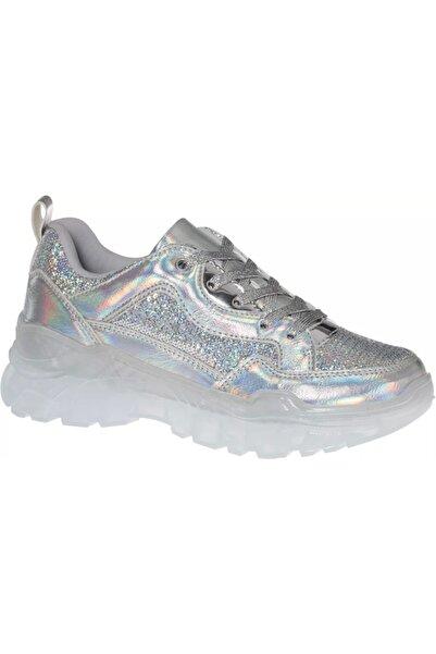 Catwalk Kadın Gümüş Bağcıklı Sneaker