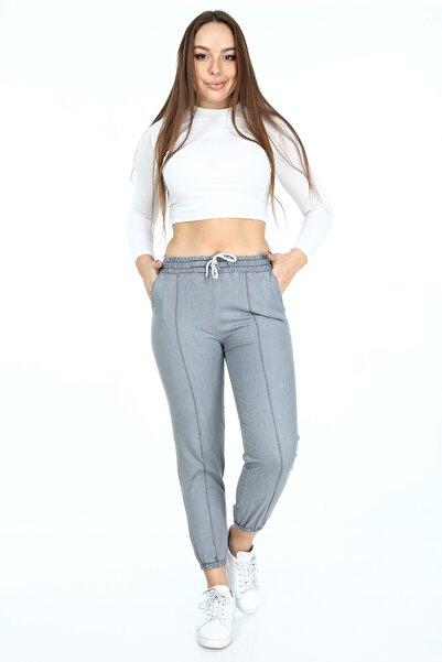 Rodi Jeans Açık Gri Kadın Paça Lastikli Çımalı Pantolon Rodi Ds21kb010712