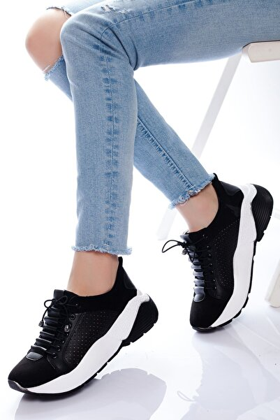 derithy Kadın Siyah Sneaker