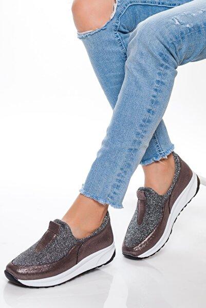 derithy Kadın Platin Sneaker