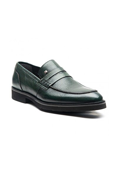 Fosco Erkek Yeşil Hakiki Deri Ayakkabı 1114
