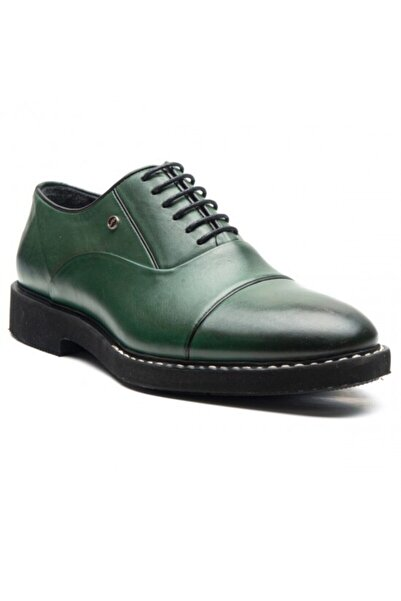 Fosco Erkek Yeşil Hakiki Deri Ayakkabı 9079