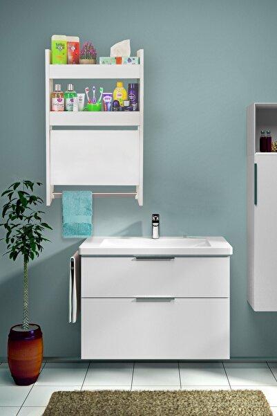 Ankaflex Ahşap Banyo Rafı Havlu Askılıklı Banyo Tereği