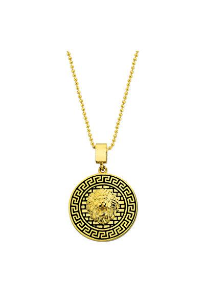 Mi Mito Jewel Sarı Madalyon Altın Kolye